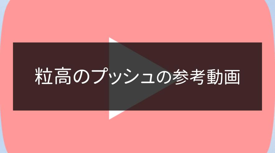 粒高のプッシュの動画