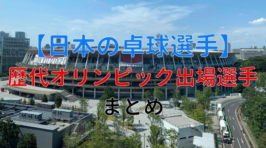 日本の歴代オリンピック代表選手
